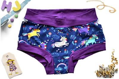 Click to order XS Boyshorts Unicorns Drawing now